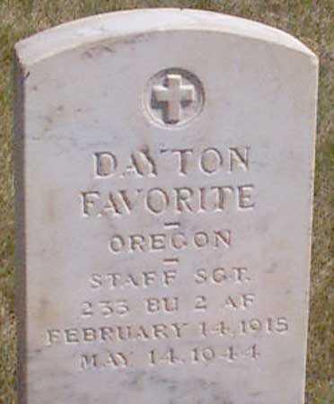 FAVORITE (WWII), DAYTON - Baker County, Oregon | DAYTON FAVORITE (WWII) - Oregon Gravestone Photos