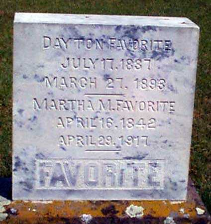 FAVORITE, DAYTON - Baker County, Oregon | DAYTON FAVORITE - Oregon Gravestone Photos