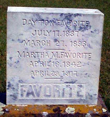 FAVORITE, MARTHA MELISSA - Baker County, Oregon | MARTHA MELISSA FAVORITE - Oregon Gravestone Photos