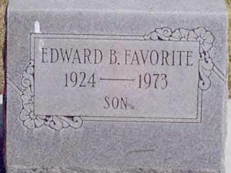 FAVORITE, EDWARD  B. - Baker County, Oregon | EDWARD  B. FAVORITE - Oregon Gravestone Photos