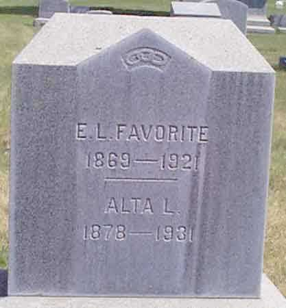 FAVORITE, EDWARD L. - Baker County, Oregon | EDWARD L. FAVORITE - Oregon Gravestone Photos