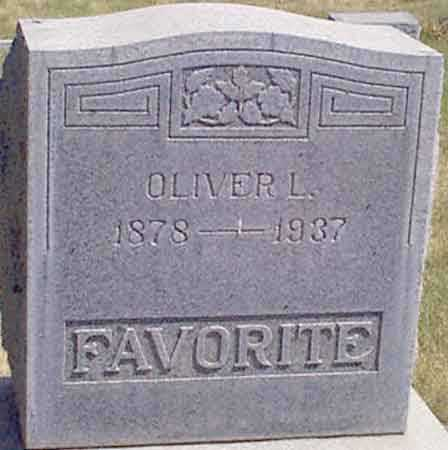 FAVORITE, OLIVER L. - Baker County, Oregon | OLIVER L. FAVORITE - Oregon Gravestone Photos