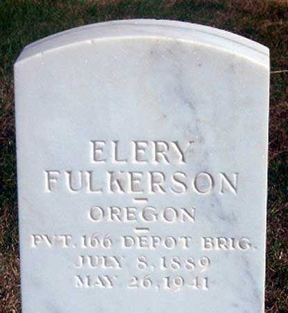 FULKERSON (WWI), ELERY - Baker County, Oregon | ELERY FULKERSON (WWI) - Oregon Gravestone Photos