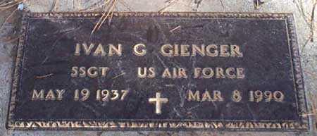 GIENGER (SERV), IVAN G. - Baker County, Oregon | IVAN G. GIENGER (SERV) - Oregon Gravestone Photos