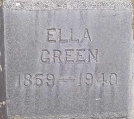 KING GREEN, ELLA L. - Baker County, Oregon   ELLA L. KING GREEN - Oregon Gravestone Photos