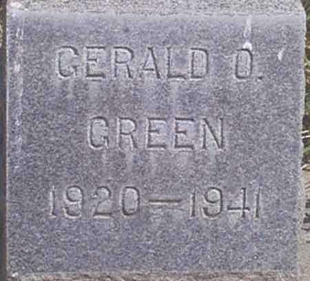 GREEN, GERALD ORNIE - Baker County, Oregon | GERALD ORNIE GREEN - Oregon Gravestone Photos