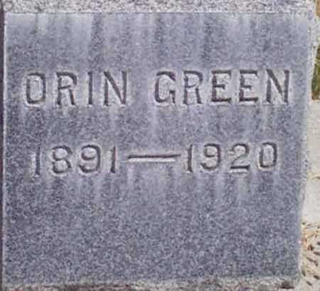 GREEN, ORIN - Baker County, Oregon | ORIN GREEN - Oregon Gravestone Photos