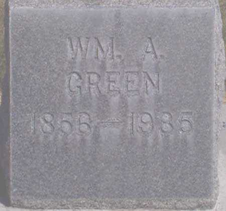 GREEN, WILLIAM ALBERT - Baker County, Oregon | WILLIAM ALBERT GREEN - Oregon Gravestone Photos