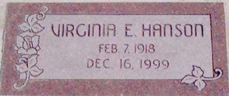 HANSON, VIRGINIA EDITH - Baker County, Oregon | VIRGINIA EDITH HANSON - Oregon Gravestone Photos