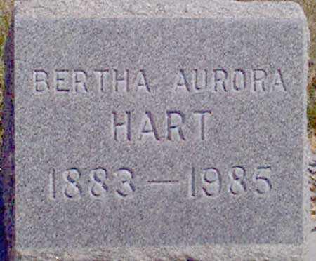 HART, BERTHA AURORA - Baker County, Oregon   BERTHA AURORA HART - Oregon Gravestone Photos