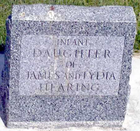 HEARING, INFANT DAUGHTER - Baker County, Oregon | INFANT DAUGHTER HEARING - Oregon Gravestone Photos