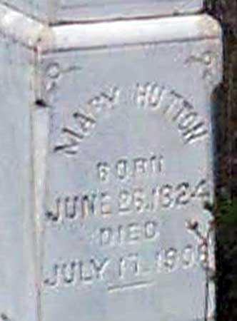 HUTTON, MARY - Baker County, Oregon   MARY HUTTON - Oregon Gravestone Photos
