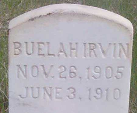 IRVIN, BUELAH - Baker County, Oregon | BUELAH IRVIN - Oregon Gravestone Photos