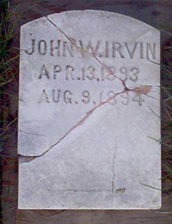 IRVIN, JOHN W. - Baker County, Oregon   JOHN W. IRVIN - Oregon Gravestone Photos