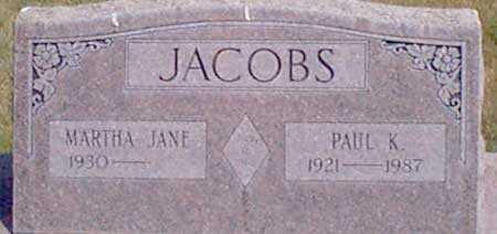 COLVIN JACOBS, MARTHA JANE - Baker County, Oregon | MARTHA JANE COLVIN JACOBS - Oregon Gravestone Photos