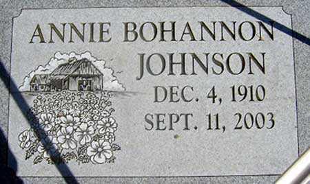 BOHANNON JOHNSON, ANNIE - Baker County, Oregon | ANNIE BOHANNON JOHNSON - Oregon Gravestone Photos