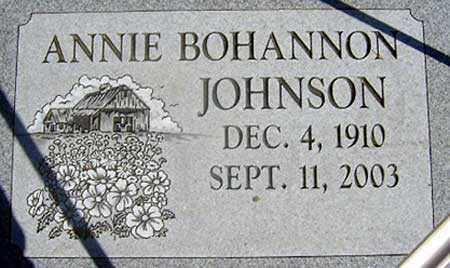 BOHANNON JOHNSON, ANNIE - Baker County, Oregon | ANNIE BOHANNON JOHNSON - Oregon Gravestone Photos