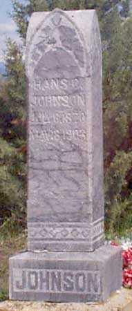 JOHNSON, HANS B. - Baker County, Oregon | HANS B. JOHNSON - Oregon Gravestone Photos