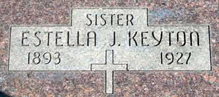 KEYTON, ESTELLA JESSE - Baker County, Oregon | ESTELLA JESSE KEYTON - Oregon Gravestone Photos