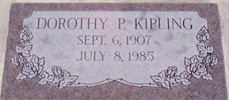 PERKINS KIPLING, DOROTHY - Baker County, Oregon | DOROTHY PERKINS KIPLING - Oregon Gravestone Photos