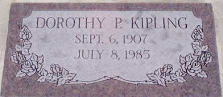 PERKINS KIPLING, DOROTHY - Baker County, Oregon | DOROTHY PERKINS KIPLING - Oregon Gravestone Photos