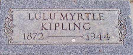 BARKER KIPLING, LULU MYRTLE - Baker County, Oregon | LULU MYRTLE BARKER KIPLING - Oregon Gravestone Photos