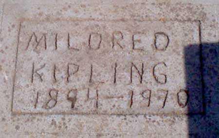 KIPLING, MILDRED - Baker County, Oregon | MILDRED KIPLING - Oregon Gravestone Photos