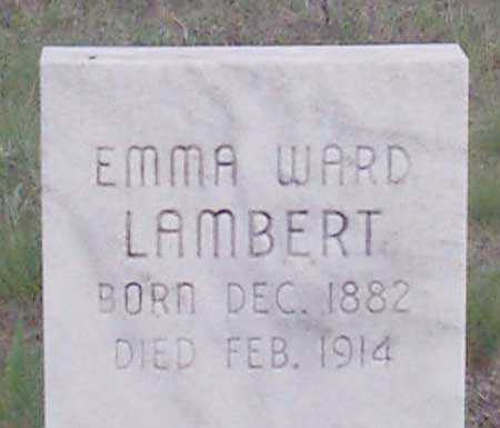 WARD LAMBERT, EMMA - Baker County, Oregon | EMMA WARD LAMBERT - Oregon Gravestone Photos