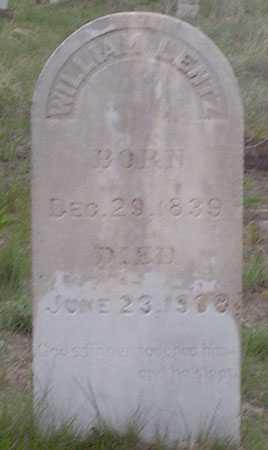 LENTZ, WILLIAM - Baker County, Oregon | WILLIAM LENTZ - Oregon Gravestone Photos
