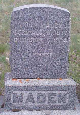 MADEN, JOHN - Baker County, Oregon   JOHN MADEN - Oregon Gravestone Photos
