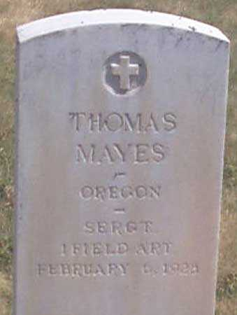 MAYES (WWI), THOMAS ARCHEY - Baker County, Oregon | THOMAS ARCHEY MAYES (WWI) - Oregon Gravestone Photos