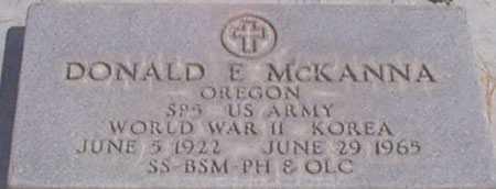 MCKANNA, DONALD E - Baker County, Oregon | DONALD E MCKANNA - Oregon Gravestone Photos