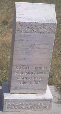 SAWYER MCKANNA, SARAH - Baker County, Oregon | SARAH SAWYER MCKANNA - Oregon Gravestone Photos
