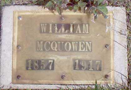 MCQUOWEN, WILLIAM - Baker County, Oregon | WILLIAM MCQUOWEN - Oregon Gravestone Photos