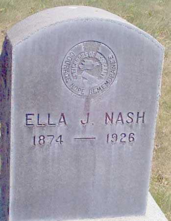 NASH, ELLA J. - Baker County, Oregon   ELLA J. NASH - Oregon Gravestone Photos
