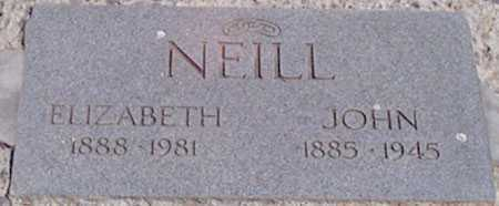 NEILL, ELIZABETH AMELIA - Baker County, Oregon | ELIZABETH AMELIA NEILL - Oregon Gravestone Photos