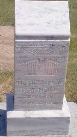 NEILL, TILLIE - Baker County, Oregon | TILLIE NEILL - Oregon Gravestone Photos