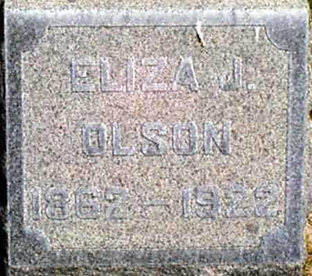 CREIGHBAUM OLSON, ELIZA JANE - Baker County, Oregon | ELIZA JANE CREIGHBAUM OLSON - Oregon Gravestone Photos