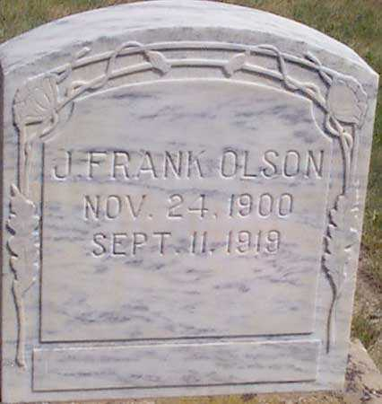 OLSON, J. FRANK - Baker County, Oregon | J. FRANK OLSON - Oregon Gravestone Photos