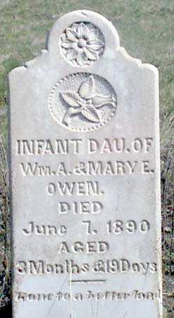 OWEN, INFANT DAUGHTER - Baker County, Oregon | INFANT DAUGHTER OWEN - Oregon Gravestone Photos