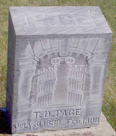 PAGE, THOMAS D. - Baker County, Oregon | THOMAS D. PAGE - Oregon Gravestone Photos