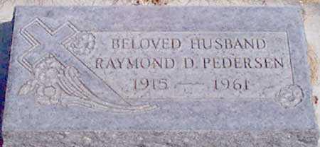PEDERSEN, RAYMOND D. - Baker County, Oregon | RAYMOND D. PEDERSEN - Oregon Gravestone Photos