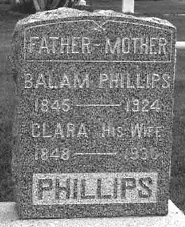 PHILLIPS, BALAM - Baker County, Oregon | BALAM PHILLIPS - Oregon Gravestone Photos