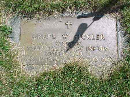 PICKLER, GREER WARDELL - Baker County, Oregon | GREER WARDELL PICKLER - Oregon Gravestone Photos