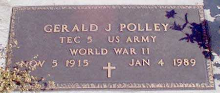 POLLEY (WWII), GERALD J. - Baker County, Oregon | GERALD J. POLLEY (WWII) - Oregon Gravestone Photos