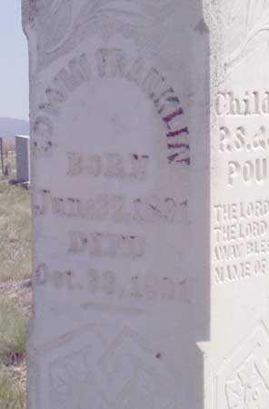 POULSON, EDWIN FRANKLIN (CLOSE-VIEW) - Baker County, Oregon | EDWIN FRANKLIN (CLOSE-VIEW) POULSON - Oregon Gravestone Photos