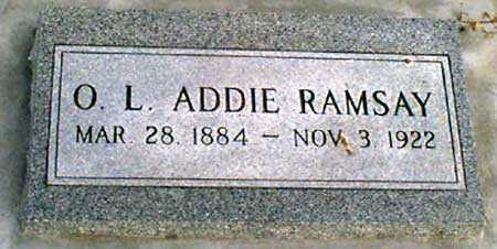 SINCLAIR RAMSAY, OLLIE LURA (ADDIE) - Baker County, Oregon   OLLIE LURA (ADDIE) SINCLAIR RAMSAY - Oregon Gravestone Photos