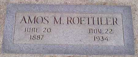 ROETHLER, AMOS M. - Baker County, Oregon   AMOS M. ROETHLER - Oregon Gravestone Photos