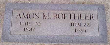 ROETHLER, AMOS M. - Baker County, Oregon | AMOS M. ROETHLER - Oregon Gravestone Photos