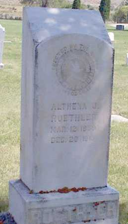 ROETHLER, ALTHENA J. - Baker County, Oregon | ALTHENA J. ROETHLER - Oregon Gravestone Photos
